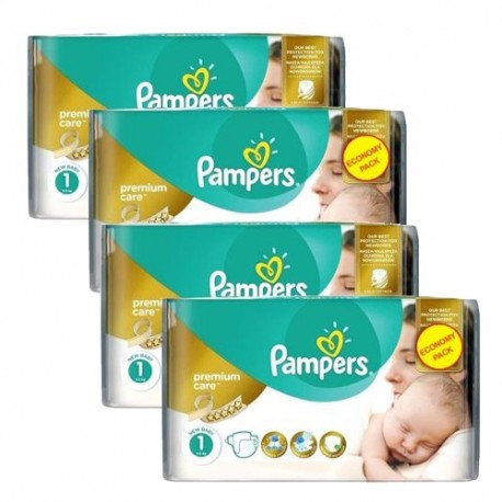 Pack jumeaux 528 Couches Pampers New Baby Premium Care taille 1 sur Couches Zone