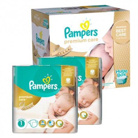 Pack jumeaux 660 Couches Pampers New Baby Premium Care taille 1 sur Couches Zone