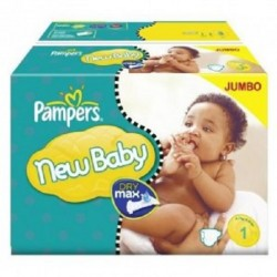 Pack jumeaux 720 Couches Pampers New Baby Premium Protection taille 1