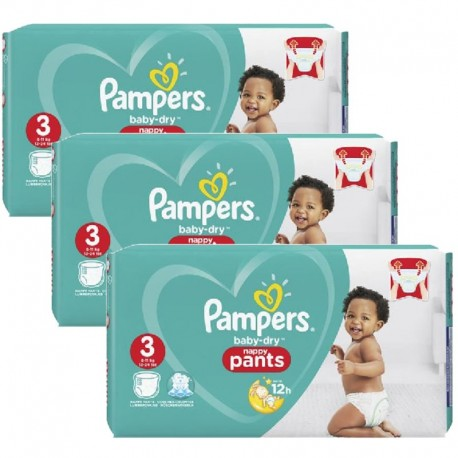 Pack 78 Couches Pampers Baby Dry Pants taille 3 sur Couches Zone