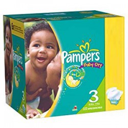 Maxi giga pack 380 Couches Pampers Baby Dry taille 3