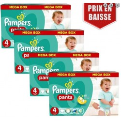 Maxi mega pack 437 Couches Pampers Baby Dry Pants taille 4 sur Couches Zone