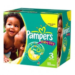 Maxi mega pack 418 Couches Pampers Baby Dry taille 3
