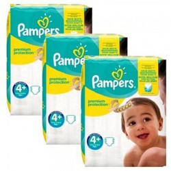Pack 63 Couches Pampers New Baby Premium Protection taille 4+ sur Couches Zone