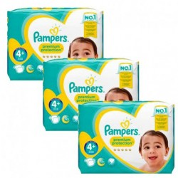 Maxi mega pack 462 Couches Pampers New Baby Premium Protection taille 4+ sur Couches Zone