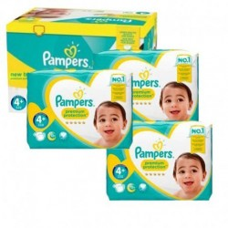 Pack jumeaux 525 Couches Pampers New Baby Premium Protection taille 4+ sur Couches Zone