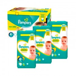 Pack jumeaux 567 Couches Pampers New Baby Premium Protection taille 4+ sur Couches Zone