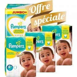 Pack jumeaux 609 Couches Pampers New Baby Premium Protection taille 4+ sur Couches Zone