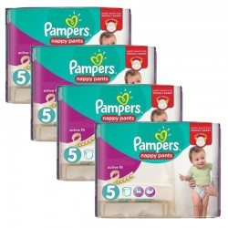 Pack 34 Couches Pampers Active Fit Pants taille 5 sur Couches Zone