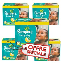 Pack 84 Couches Pampers Baby Dry taille 5+