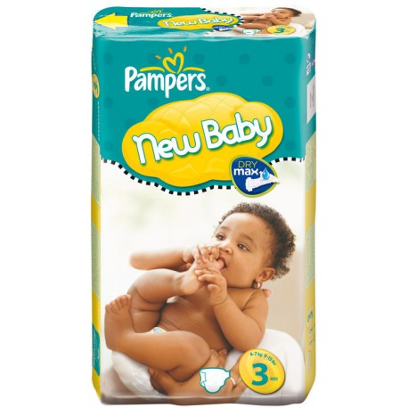 Pack 35 Couches Pampers New Baby Premium Protection taille 3 sur Couches Zone