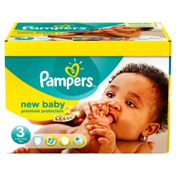 Mega pack 105 Couches Pampers New Baby Premium Protection taille 3 sur Couches Zone