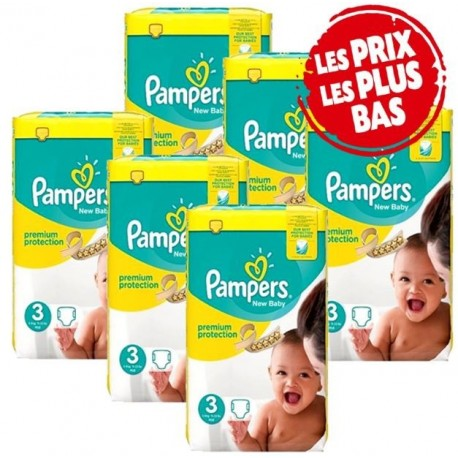 Giga pack 280 Couches Pampers New Baby Premium Protection taille 3 sur Couches Zone