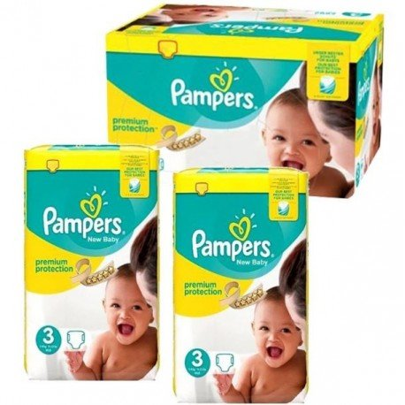 Maxi giga pack 350 Couches Pampers New Baby Premium Protection taille 3 sur Couches Zone