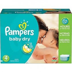 Giga pack 272 Couches Pampers Baby Dry taille 4 sur Couches Zone