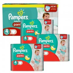 Pack 80 Couches Pampers Baby Dry Pants taille 4 sur Couches Zone