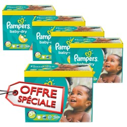 Mega pack 110 Couches Pampers Baby Dry taille 5+
