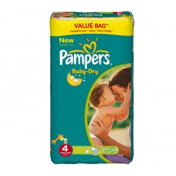 Pack 68 Couches Pampers Baby Dry taille 4 sur Couches Zone