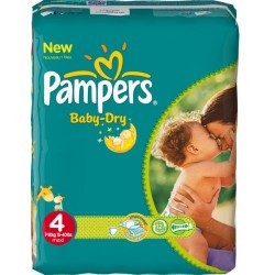 Mega pack 160 Couches Pampers Baby Dry taille 4+ sur Couches Zone
