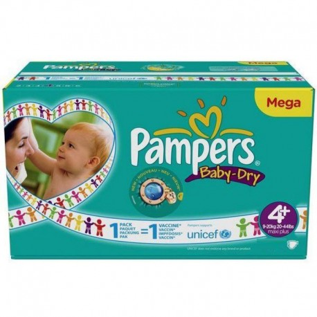 Giga pack 240 Couches Pampers Baby Dry taille 4+ sur Couches Zone