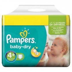 Pack jumeaux 640 Couches Pampers Baby Dry taille 4+ sur Couches Zone