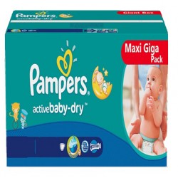 Pack jumeaux 800 Couches Pampers Baby Dry taille 4+ sur Couches Zone