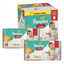 Mega pack 198 Couches Pampers Premium Care Pants taille 4 sur Couches Zone