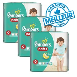 Pack 56 Couches Pampers Baby Dry Pants taille 6 sur Couches Zone