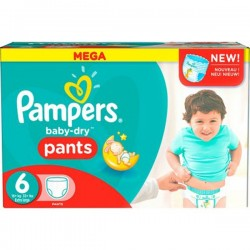 Pack 84 Couches Pampers Baby Dry Pants taille 6 sur Couches Zone