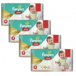 Maxi giga pack 330 Couches Pampers Premium Care Pants taille 4