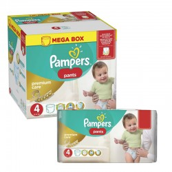 Maxi giga pack 396 Couches Pampers Premium Care Pants taille 4