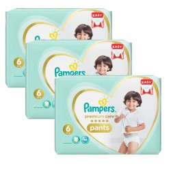 Pack 72 Couches Pampers Premium Care Pants taille 6 sur Couches Zone