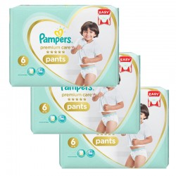 Mega pack 108 Couches Pampers Premium Care Pants taille 6 sur Couches Zone