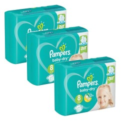 Mega pack 100 Couches Pampers Baby Dry taille 8 sur Couches Zone