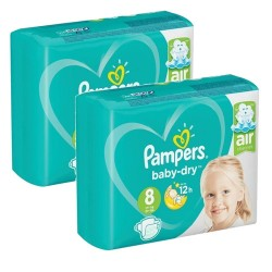 Mega pack 140 Couches Pampers Baby Dry taille 8 sur Couches Zone