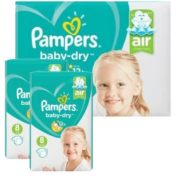 Mega pack 180 Couches Pampers Baby Dry taille 8 sur Couches Zone
