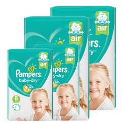 Giga pack 200 Couches Pampers Baby Dry taille 8 sur Couches Zone