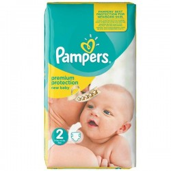 Mega pack 80 Couches Pampers New Baby Premium Protection taille 2 sur Couches Zone