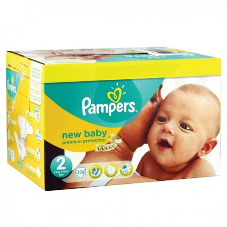 Maxi mega pack 400 Couches Pampers New Baby Premium Protection taille 2 sur Couches Zone