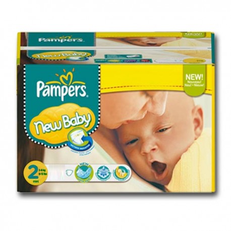 Pack jumeaux 560 Couches Pampers New Baby Premium Protection taille 2 sur Couches Zone