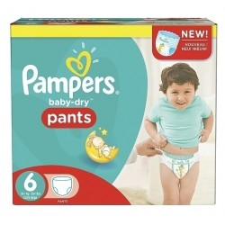 Mega pack 120 Couches Pampers Baby Dry Pants taille 6 sur Couches Zone