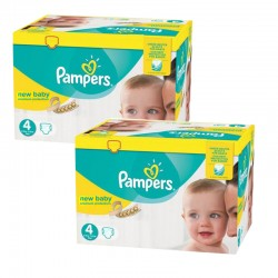 Mega pack 128 Couches Pampers New Baby Premium Protection taille 4 sur Couches Zone