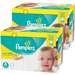 Mega pack 192 Couches Pampers New Baby Premium Protection taille 4 sur Couches Zone