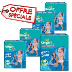Mega pack 168 Couches Pampers Active Baby Dry taille 6 sur Couches Zone