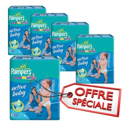 210 Couches Pampers Active Baby Dry taille 6 sur Couches Zone