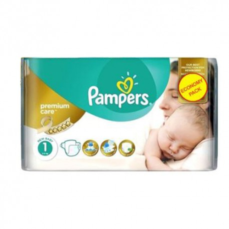 Pack 22 Couches Pampers New Baby Premium Care taille 1 sur Couches Zone