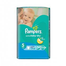 Pack 11 Couches Pampers Active Baby Dry taille 5 sur Couches Zone