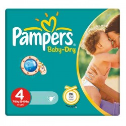 Baby Dry - Pack 44 Couches de Pampers taille 4