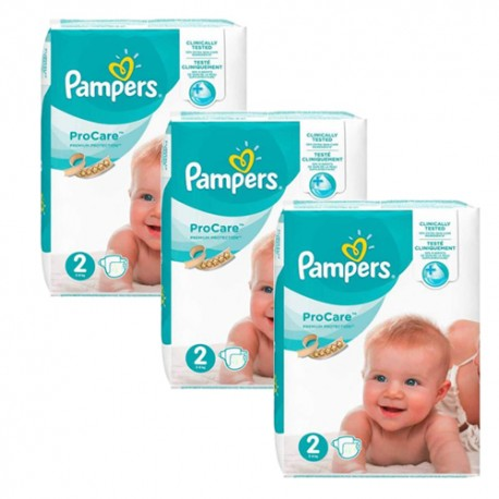 Maxi giga pack 324 Couches Pampers ProCare Premium protection taille 2 sur Couches Zone