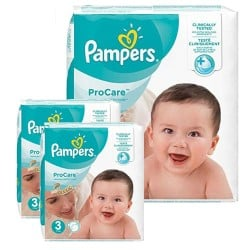 Pack 64 Couches Pampers ProCare Premium protection taille 3 sur Couches Zone